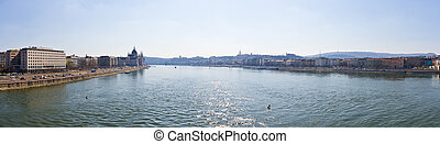 View of Danube in Budapest - Hungary