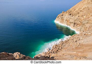 View of Dead Sea Coastline - View of the Dead Sea coastline...