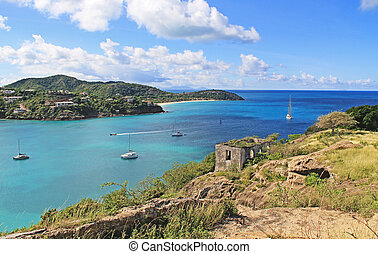 View of Deep Bay From Old Fort Barrington in St. John?s Antigua