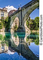 view of Devil's bridge at Cividale del Friuli - view of...