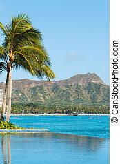 View of Diamond Head, Waikiki,