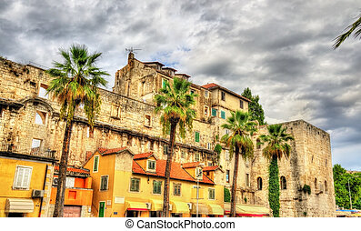 View of Diocletian's Palace in Split - Croatia