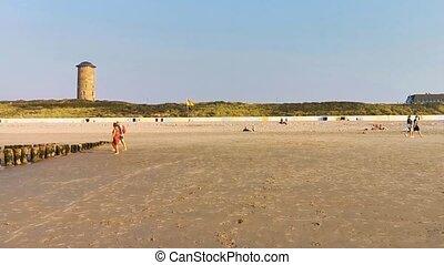 View of domburg beach, popular coastal city in zeeland, the ...