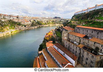 Porto, Portugal - view of Douro river at Porto, Portugal