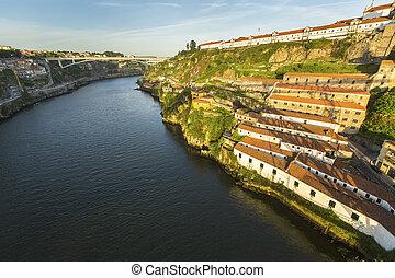 View of Douro river at Porto