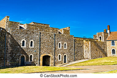 Dover Castle in Kent, England - View of Dover Castle in Kent...