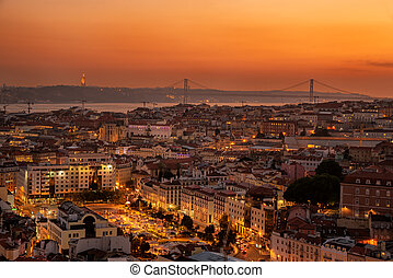 view of downtown Lisbon