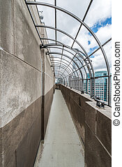 View of downtown Minneapolis from observation deck - Partial...