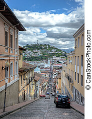 View of downtown Quito