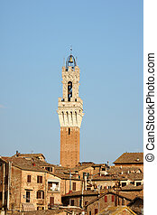 Siena in the sunset light