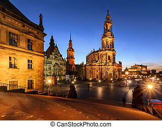 View of Dresden in the evening. Germany