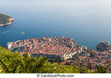 View of Dubrovnik from Srd mountain