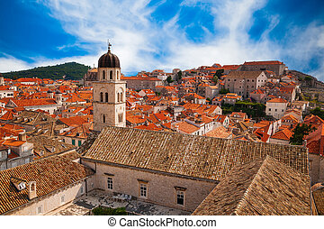view of Dubrovnik Old town from its City Walls