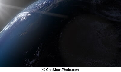 View of Earth from space clip