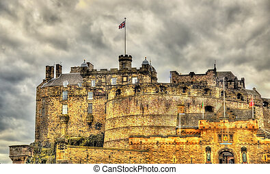 View of Edinburgh Castle - Scotland, UK