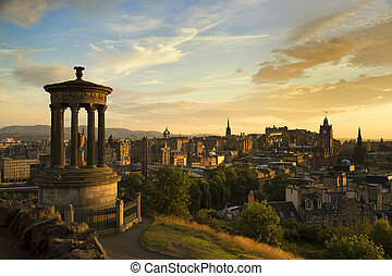 View of Edinburgh city from Carlton Hill - View of Edinburgh...