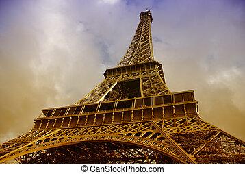 View of Eiffel Tower in Paris