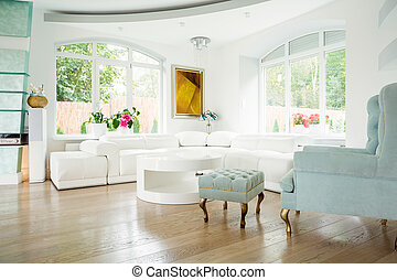 View of elegant interior inside expensive house