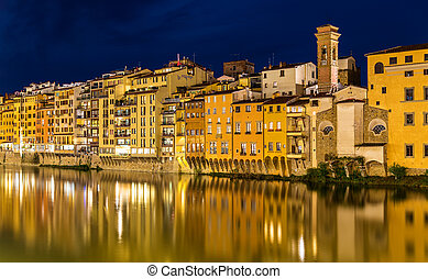 View of embankment in Florence - Italy