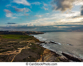 view of Ericeira village in Portugal.
