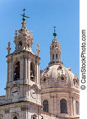 View of Estrela church in Lisbon, Portugal - Detail view of ...