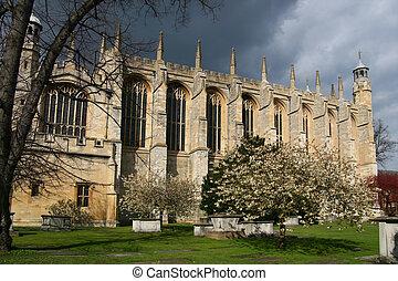 Eton College Chapel, Windsor - View of Eton College Chapel,...