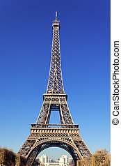 famous Eiffel Tower - view of famous Eiffel Tower in Paris