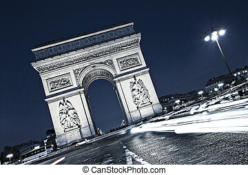 view of famous the Arc de Triomphe