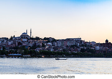 view of Fatih district in Istanbul city in evening - Travel...
