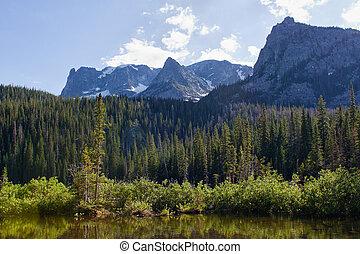 Fern Lake in Rocky Mountains