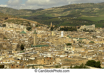 View of Fez city, Morocco old twon