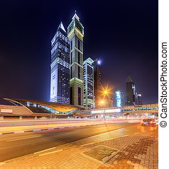 View of Financial district, Dubai, UAE