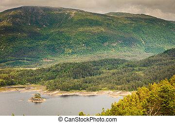 View of fjord near Bergen in Norway
