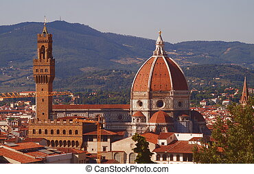 View of Florence from Boboli Gardens Tuscany Italy