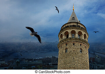view of galata tower