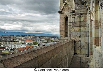 view of Geneva from the height