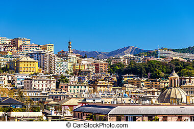 View of Genoa city - Italy, Liguria