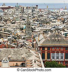 View of Genoa city