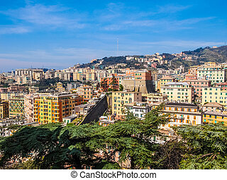View of Genoa Italy HDR