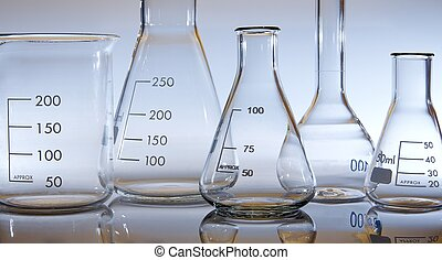 view of glassware in blue