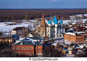 view of Gorokhovets in winter