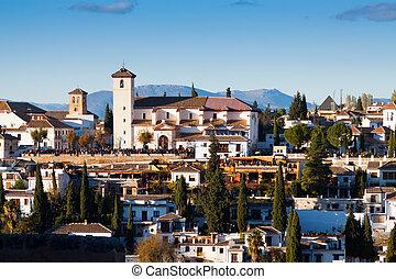 View of Granada in sunset