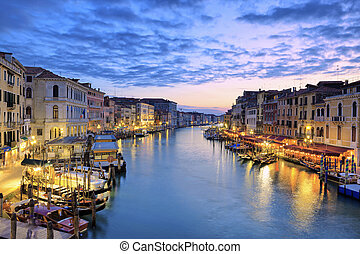 View of Grand Canal at sunset