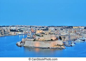 Valletta, Malta - View Of Grand Harbour, Valletta, Malta,...
