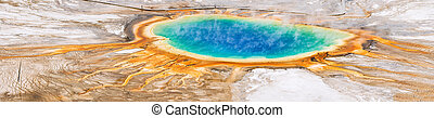 Grand Prismatic Spring - View of Grand Prismatic Spring from...