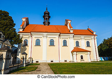 View of Great Market Square in Zamosc, Poland