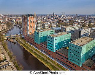 Groningen city skyline