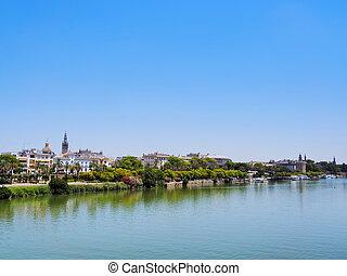 Guadalquivir River in Seville - View of Guadalquivir River ...