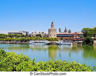 Guadalquivir River in Seville