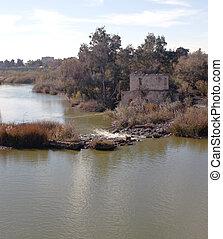 Guadalquivir river - View of Guadalquivir river next to a ...